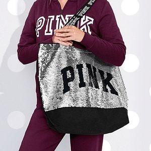 NWT Victoria's Secret PINK Flip Sequin Bag